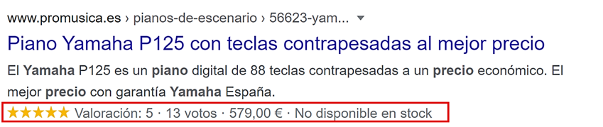 SEO para ecommerce, Rich snippets